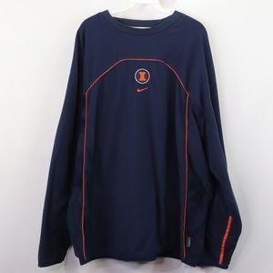 Vintage Nike University of Illinois Fleece Sweater